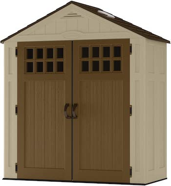 Suncast vertical outdoor shed