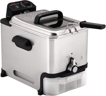T fal deep fryer with basket and oil filtration