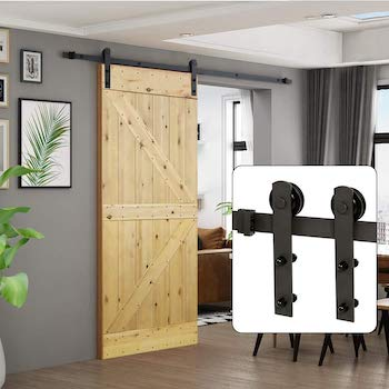 U max 6ft sliding barn door hardware kit