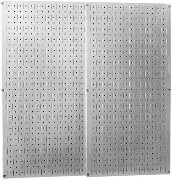 Wall control galvanized steel pegboard pack