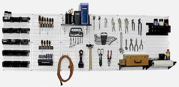 Wall control master workbench metal pegboard