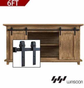 Winsoon 6ft super mini cabinet barn door