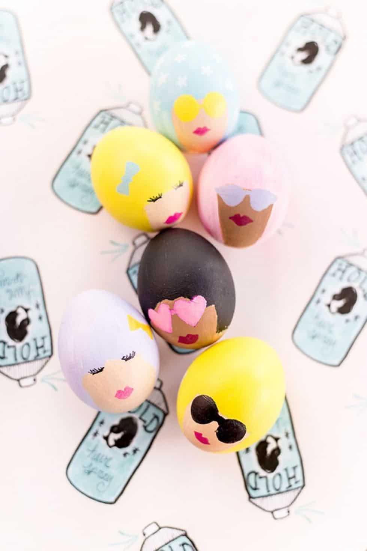 Bouffant easter eggs