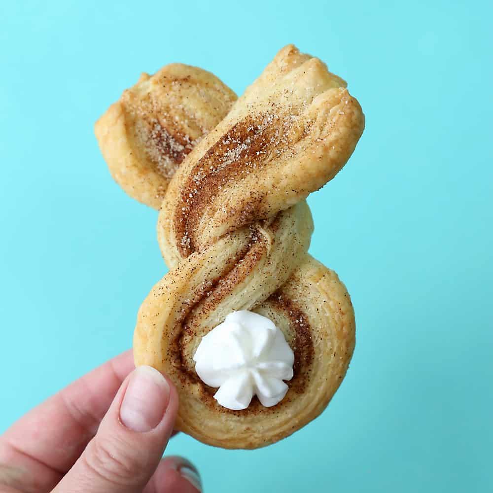Cinnamon sugar bunnies puff pastry easy easter treat 4