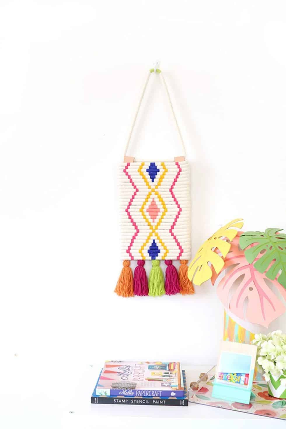 Diy painted rope wall decor
