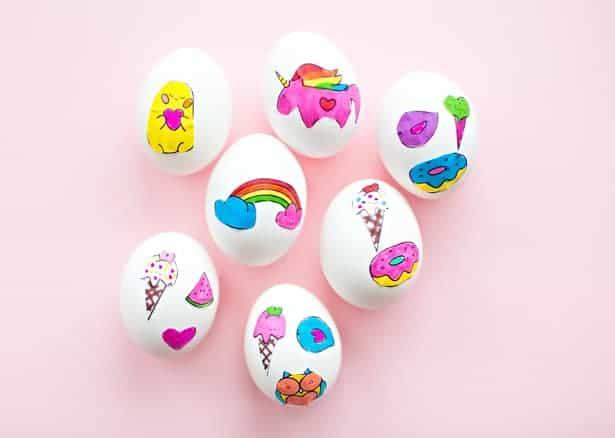 Easter egg sticker eggs