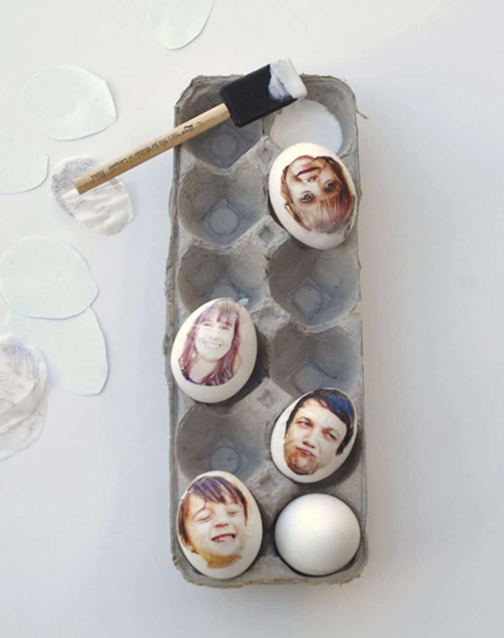 Photo print eggs