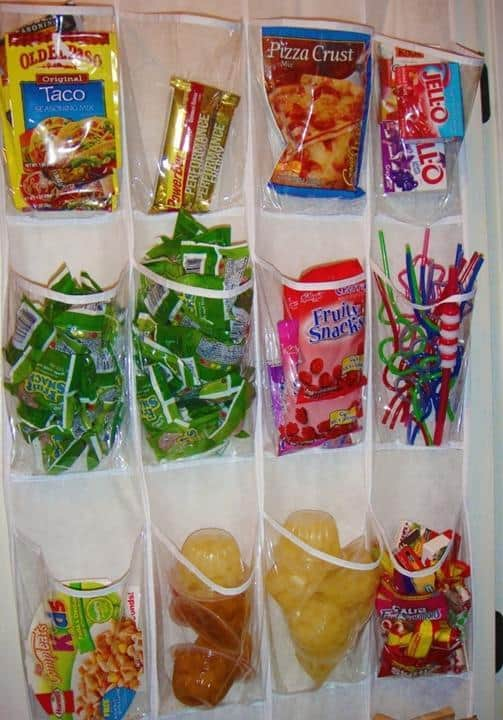 Shoe holder snack organizer