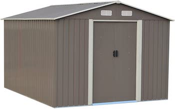 10 x 8 ft outdoor tool storage shed kit