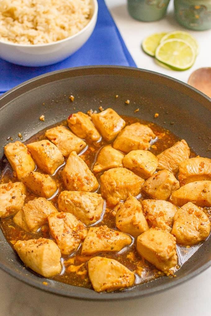 15 minute honey garlic chicken