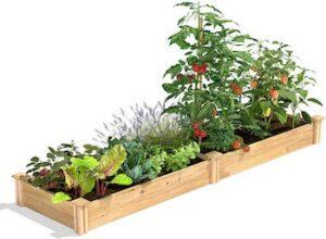 2 x 8 x 7 cedar raised garden kit