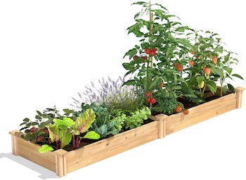 2 x 8 x 7 cedar raised garden kit