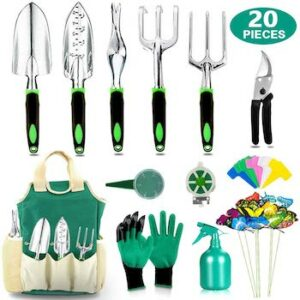 29 piece heavy duty aluminum garden tools set