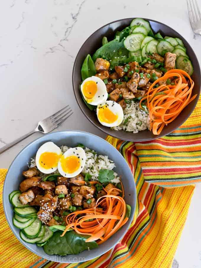 30 minute pork rice bowls