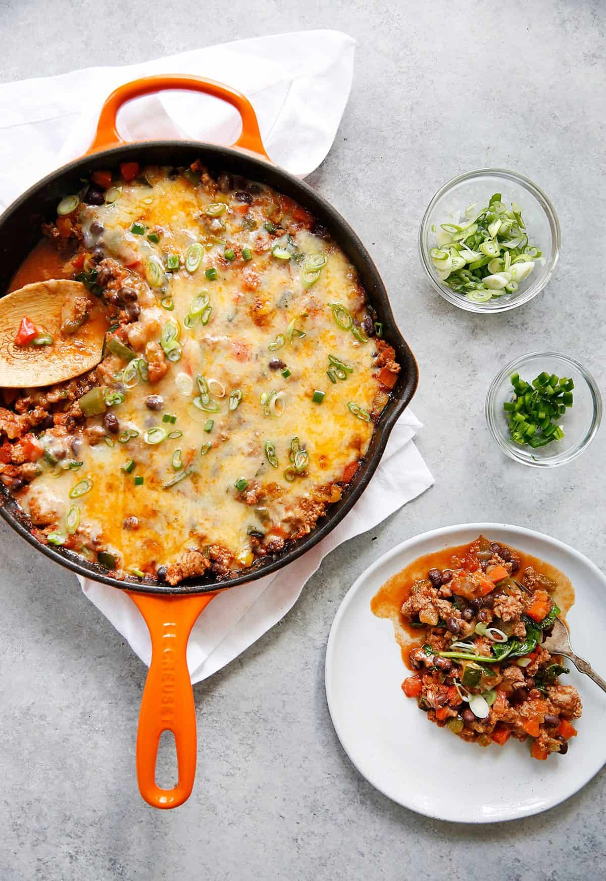 30 minute loaded taco skillet