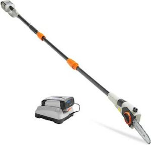 40V Max 8 inch cordless pole saw with telescopic pole