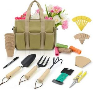 47 piece carbon steel heavy duty gardening kit