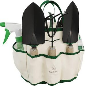 8 piece garden tool and tote set