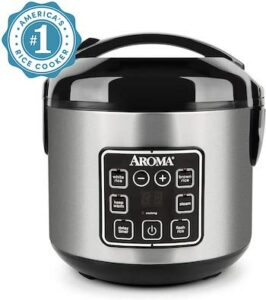 Aroma Housewares Digital Cool-Touch rice grain cooker and food steamer