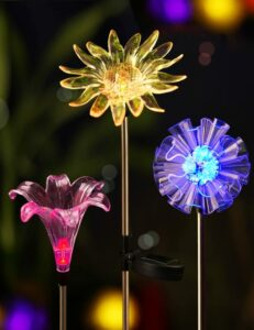 Bright zeal solar stake lights