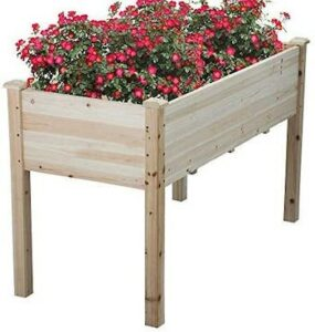 Cedar elevated garden box with legs