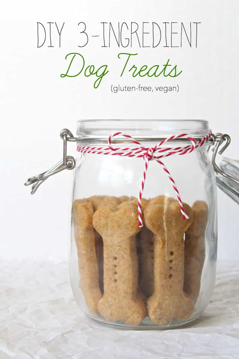 Diy 3 ingredient dog treats gluten free vegan the plant strong vegan title
