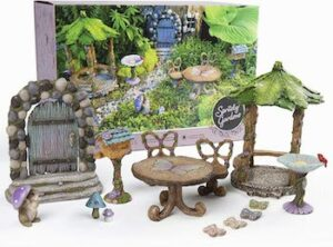 Deluxe 14 piece fairy garden kit with accessories