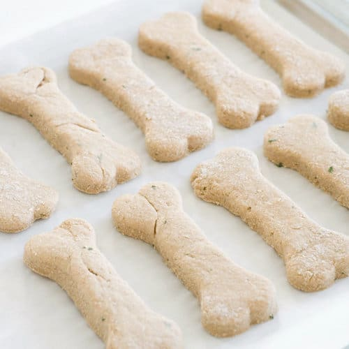 Easy two ingredient homemade dog treats
