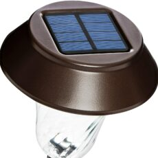 Enchated spaces bronze solar path lights