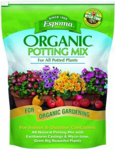 Espoma 8 quart organic potting mix