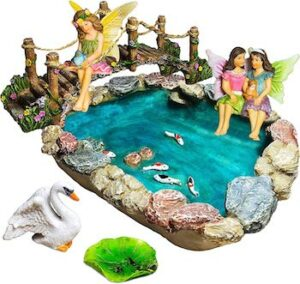 Fairy garden fish pond kit