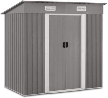 Galvanized steel heavy duty outdoor storage shed kit