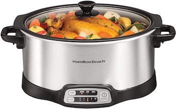 Hamilton beach sear & cook programmable slow cooker