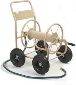 Industrial 4 wheel garden hose reel cart