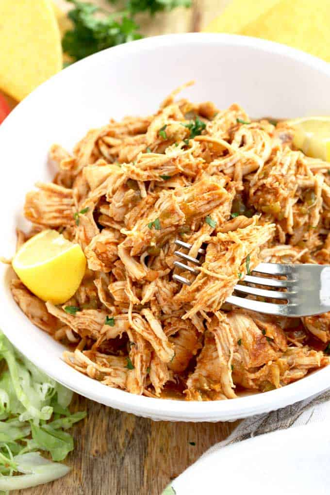 Instant pot shredded chicken mexican style 7
