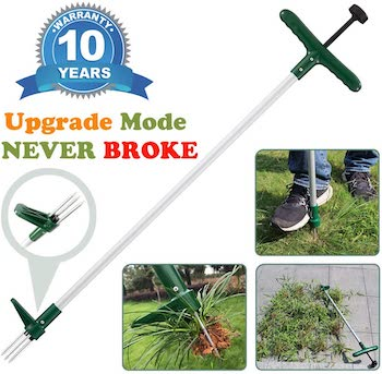 Manual stand up weeder and weed puller
