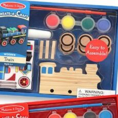Melissa & Doug Decorate Your Own Wooden Train or Race Car kits  - Craft Kits for Boys