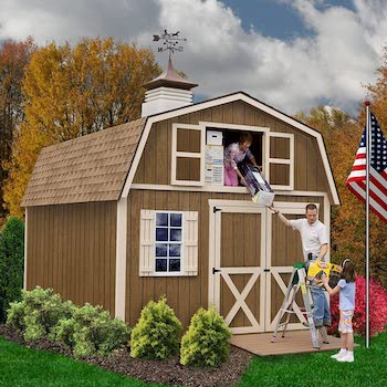 Millcreek style wood shed kit