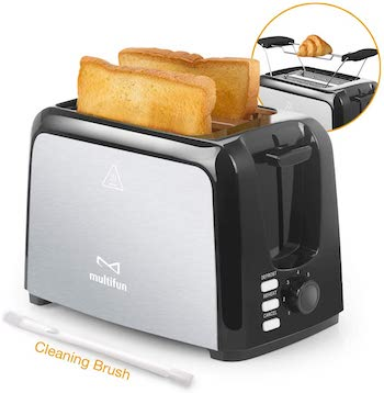 Multifun 2 slice stainless steel toaster