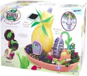 My fairy garden windmill terrace solar power playset