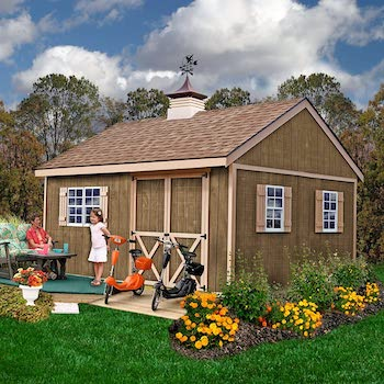 New castle style wood shed