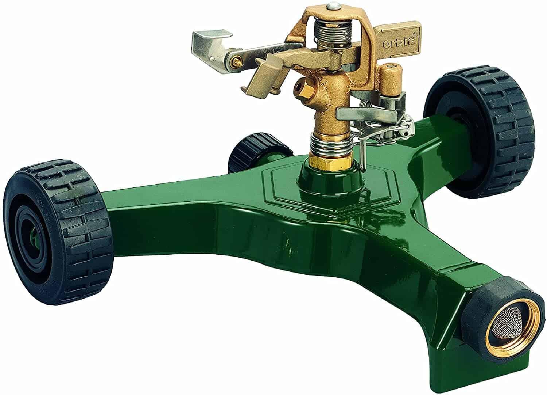 Orbit brass impact sprinkler on wheeled base