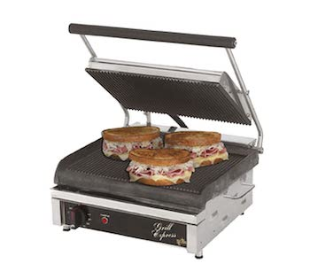 Star grooved cast iron panini grill