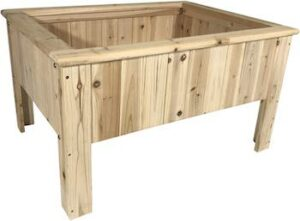 Wooden raised garden planter box kit