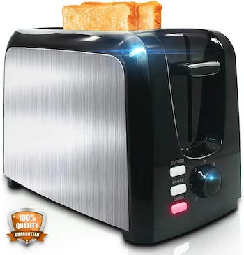 Ylluffa steel cool touch 2 slice toaster