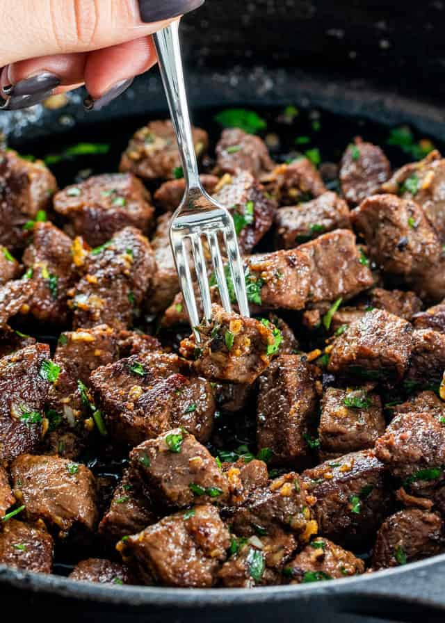Garlic butter steak bites 1 3