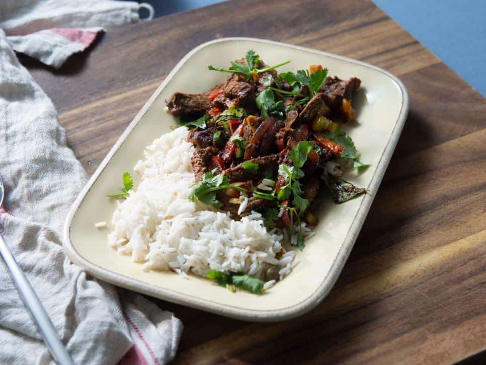 Indian spiced pepper steak