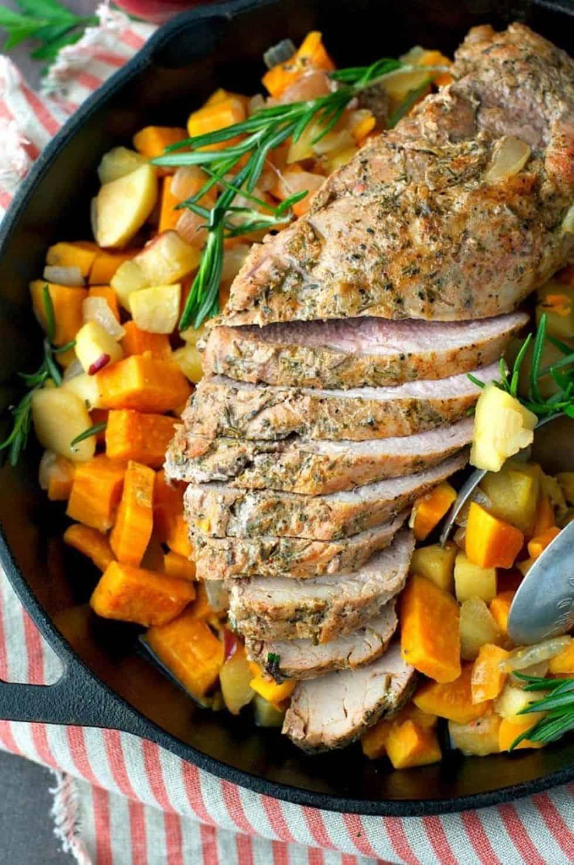 Pork tenderloin 30 min skillet meal