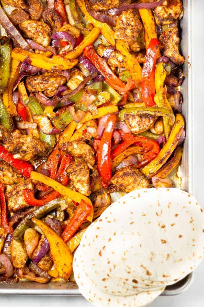 Sheet pan fajitas 30 min recipe