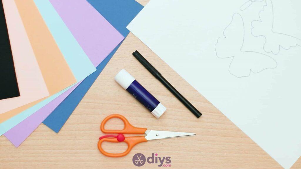 3d paper butterfly card materials